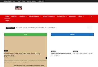 Website updatenews.com.pk desktop preview