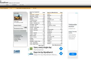 Website usediron.com desktop preview