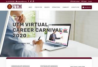 Website utm.my desktop preview