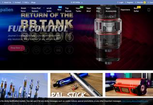 Website vapalien.com desktop preview