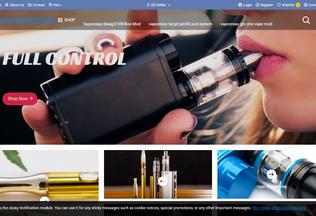 Website vaporessoclub.com desktop preview