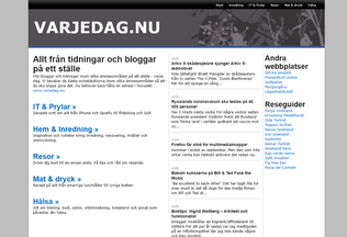 Website varjedag.nu desktop preview
