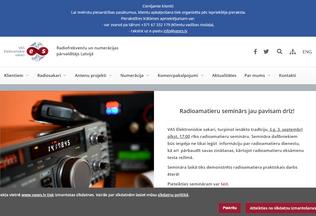 Website vases.lv desktop preview