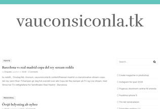 Website vauconsiconla.tk desktop preview