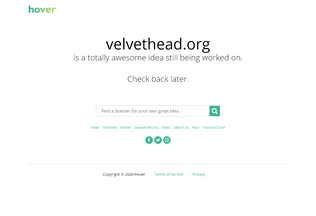 Website velvethead.org desktop preview