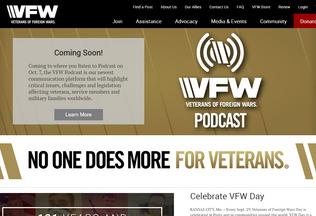 Website vfw.org desktop preview