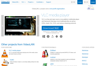 Website videolan.org desktop preview