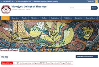 Website vidyajyoticollege.in desktop preview
