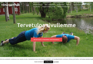 Website vilmankammen.fi desktop preview