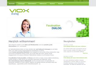 Website viox-dialog.de desktop preview