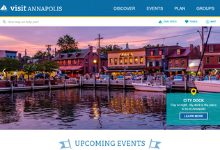 Website visitannapolis.org desktop preview