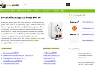Website vivakoffie.nl desktop preview