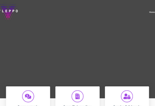 Website vleppo.io desktop preview