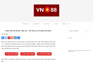 Website vn88daily.com desktop preview