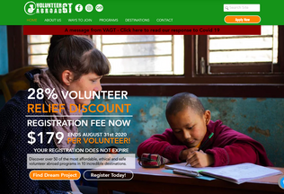 Website volunteerabroadgt.org desktop preview