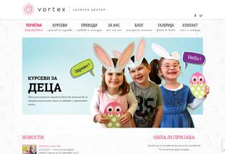 Website vortex.mk desktop preview