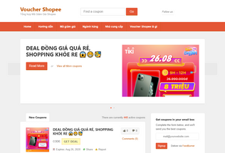 Website vouchershopee.ga desktop preview