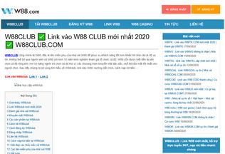 Website w88club.co desktop preview