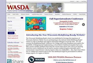 Website wasda.org desktop preview