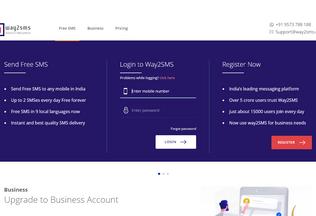 Website way2smsmail.in desktop preview