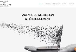 Website webquantum.fr desktop preview