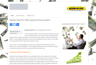 Website websiteprofitpro.net desktop preview