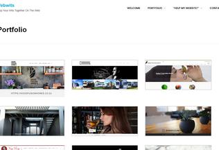 Website webwits.co.za desktop preview