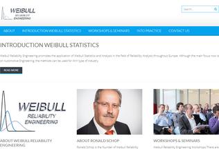 Website weibull.nl desktop preview