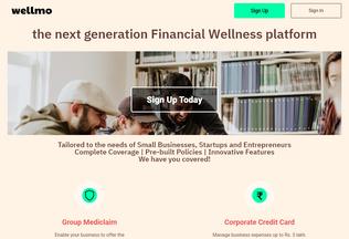 Website wellmo.in desktop preview