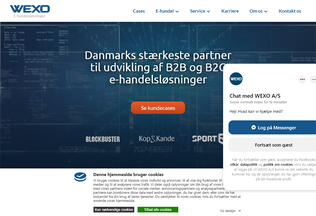 Website wexo.dk desktop preview