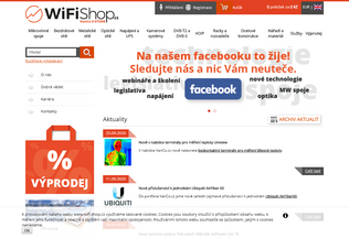 Website wifi-shop.cz desktop preview