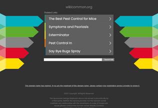 Website wikicommon.org desktop preview