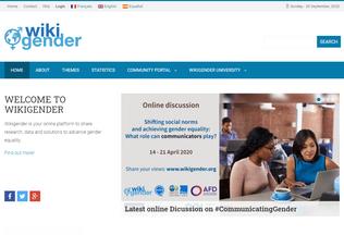 Website wikigender.org desktop preview