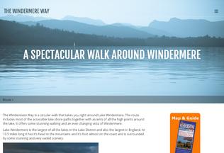 Website windermere-way.co.uk desktop preview