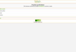 Website wip.lt desktop preview