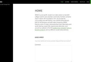 Website wknh.org desktop preview