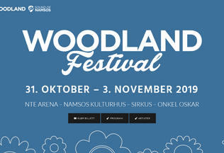 Website woodlandfestival.no desktop preview