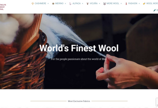 Website worlds-finest-wool.com desktop preview