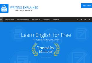 Website writingexplained.org desktop preview