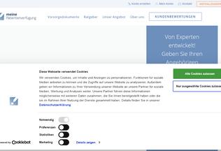 Website xn--meinepatientenverfgung-9lc.de desktop preview