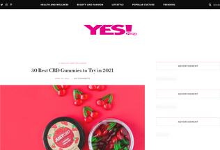 Website yesmag.co.uk desktop preview