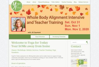 Website yogafortoday.ca desktop preview