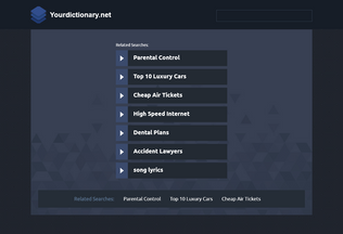 Website yourdictionary.net desktop preview