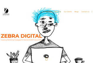 Website zebradigital.in desktop preview