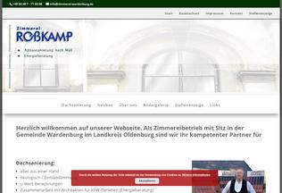 Website zimmerei-wardenburg.de desktop preview