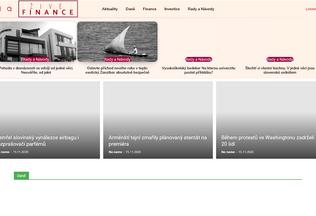 Website zivefinance.cz desktop preview