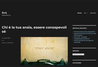 Website zoiblog.it desktop preview
